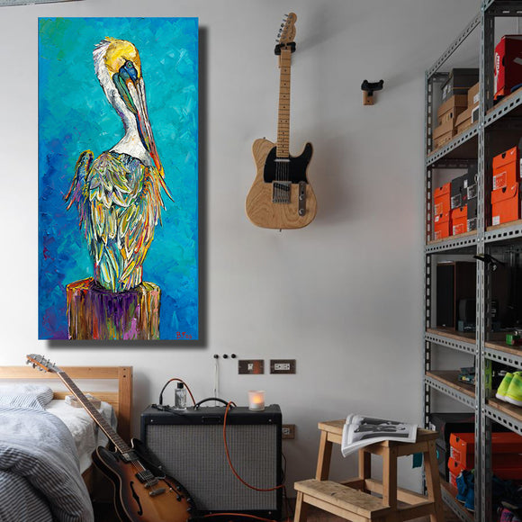 Classic Art Pelican On Canvas