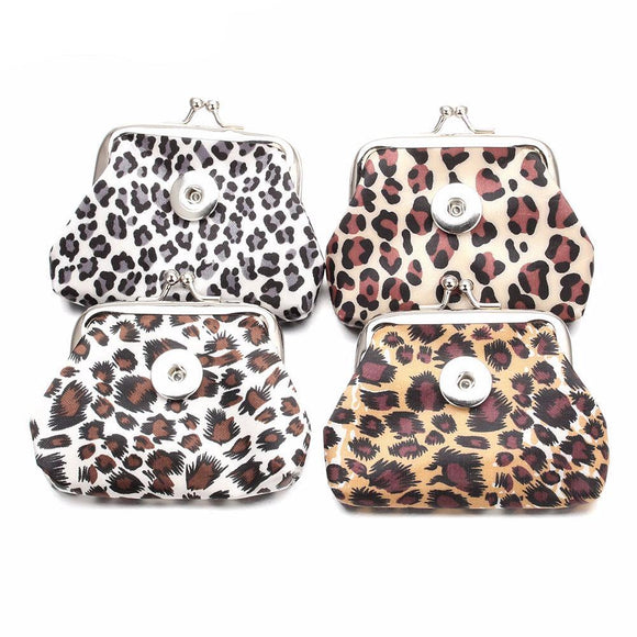 Stylish Snap Button Leopard Coin Purse