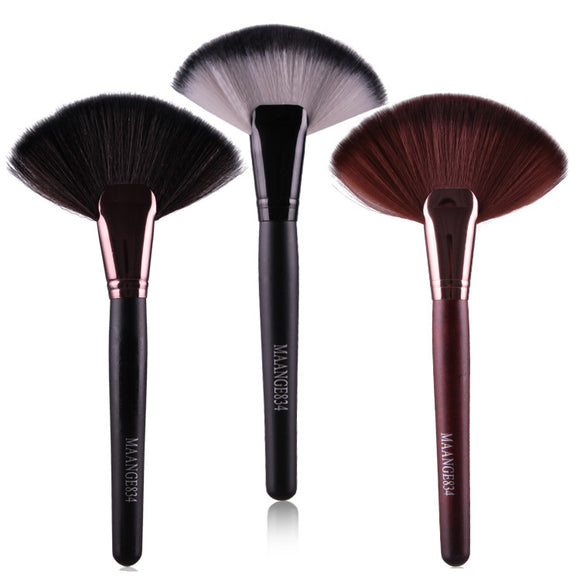Professional 1 Piece Soft Makeup Large Fan Brush: Blush Powder, Foundation Make Up, Tool Big Fan Cosmetics
