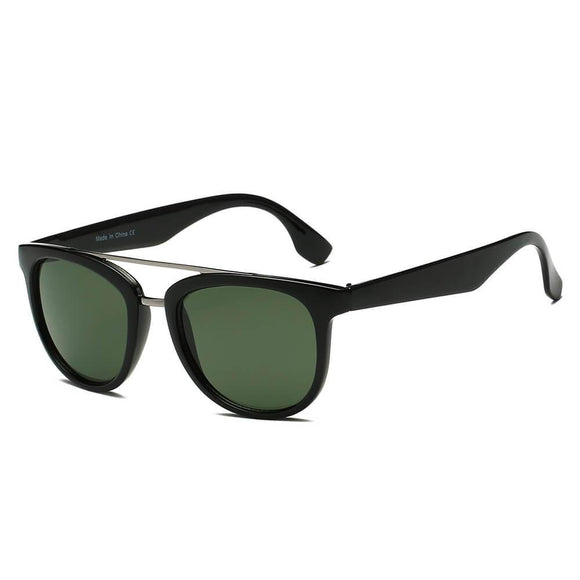 BENTON | S1064 - Classic Round Brow-Bar Fashion Sunglasses
