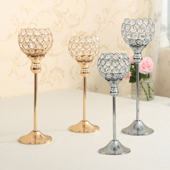 Crystal Table Candle Holder For Wedding And Holiday Centerpieces