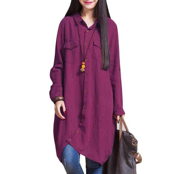 Comfortable Warm Women's Long Sleeve Long Length Top