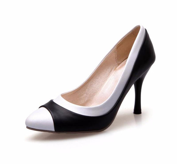 Gorgeous Black And White Stylish High Heel Pumps