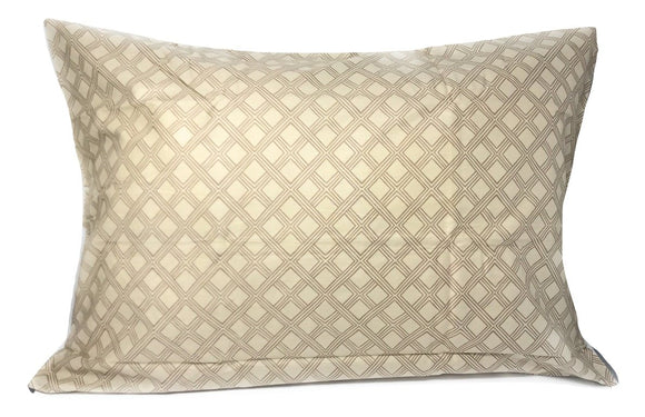 Two Geometric Sandy Tan Pillowcases - Queen 20