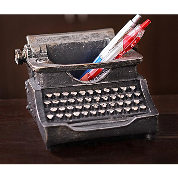 Vintage Typewriter Pencil Holder