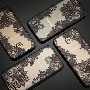 Floral Phone Cases For iPhone 7 6 6s  Samsung Galaxy S7 edge S8