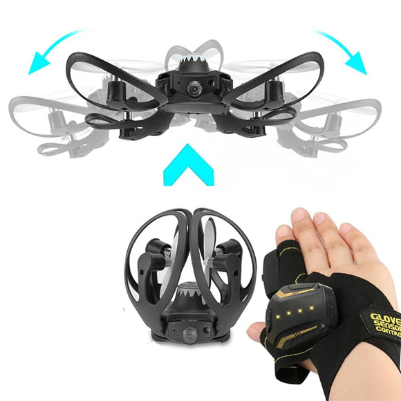 Ninja Dragons Glove Control Quadcopter Mini Drone with 480P Camera