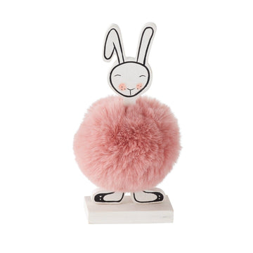 Pink Pom Pom Bunny Figurine - Front Facing (Coming Soon)