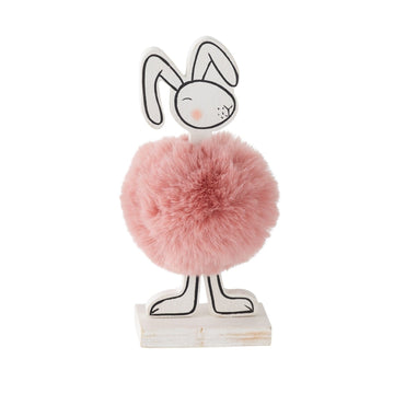 Pink Pom Pom Bunny Figurine - Profile (Coming Soon)