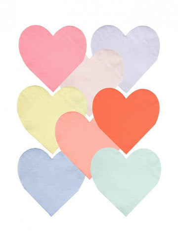 Party Palette Heart Napkins - Large