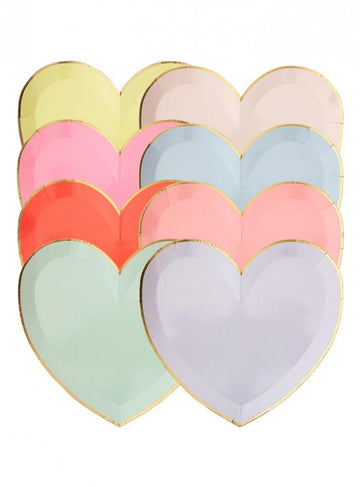 Party Palette Heart Plates - Large