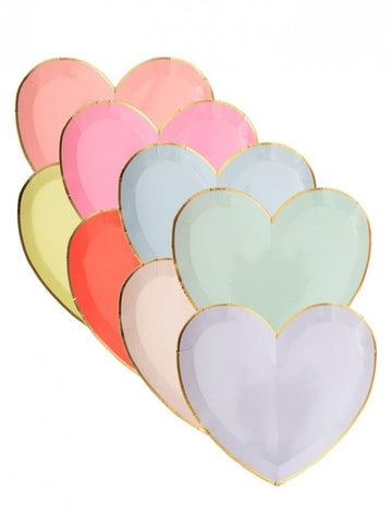 Party Palette Heart Plates - Small