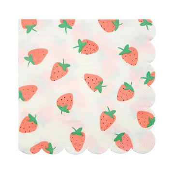 Strawberry Pattern Napkins - Large