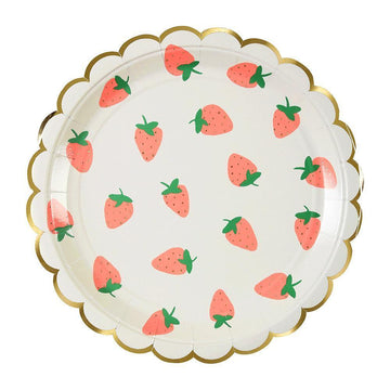 Strawberry Pattern Plates - Large