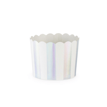 Iridescent Silver Stripe Treat Cups