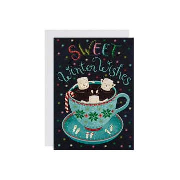 Winter Wishes Hot Cocoa-cuzzi Card
