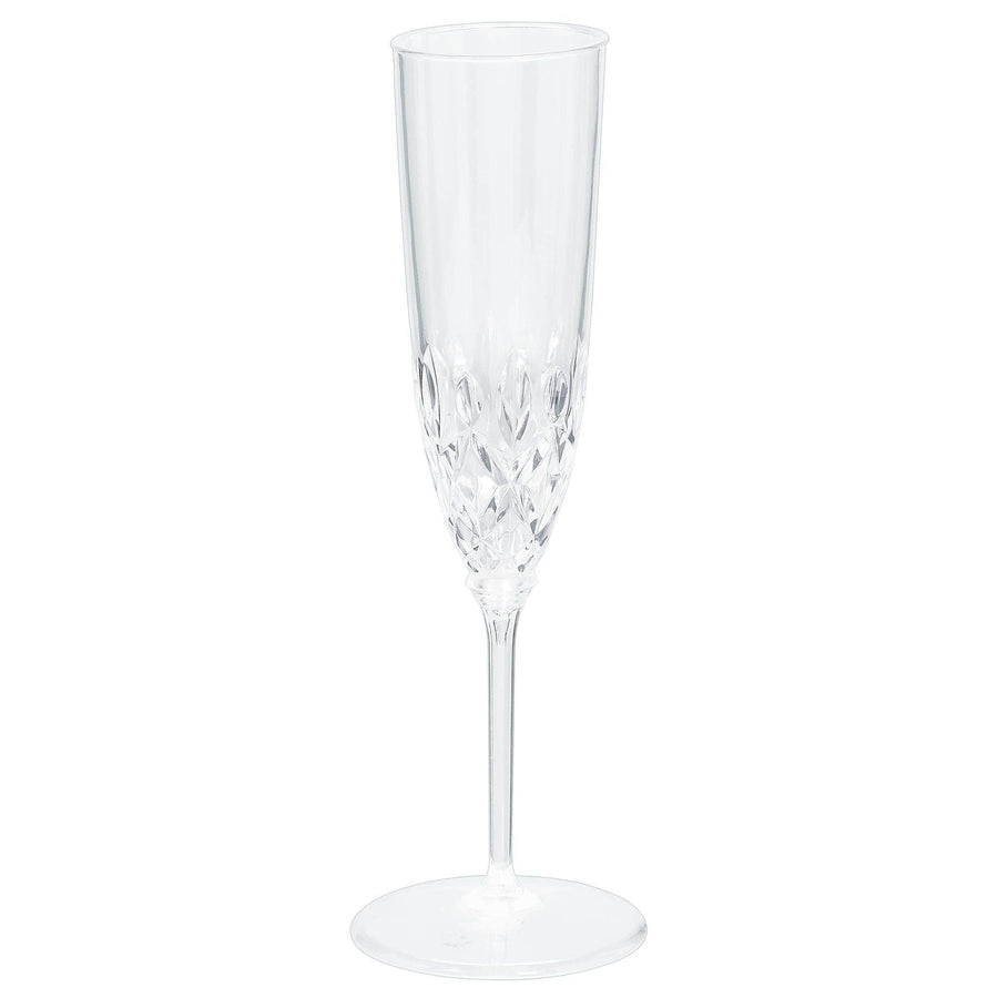 Crystal Style Plastic Champagne Flutes
