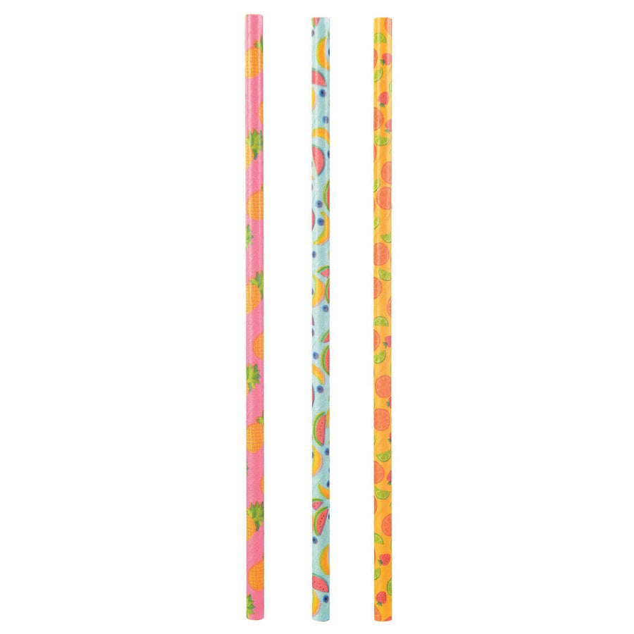 Tropical Fruit Paper Straws