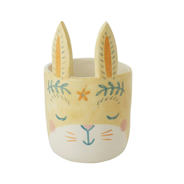 Yellow Boho Bunny Pot - Large (Coming Soon)
