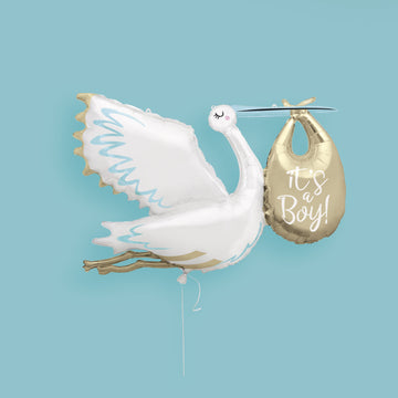 Jumbo It's a Boy Stork Foil Balloon