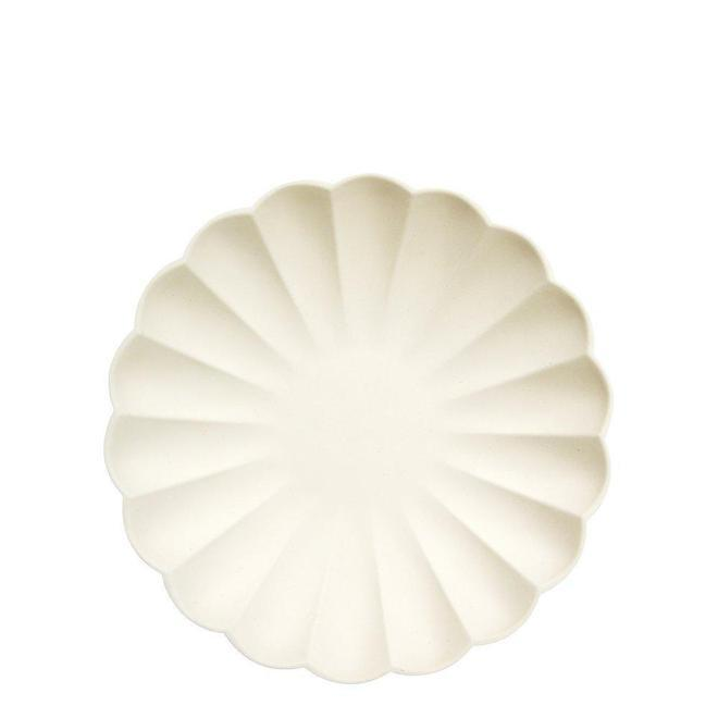 Cream Eco Plates - Small