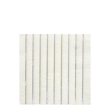 Silver Stripe Napkins - Large
