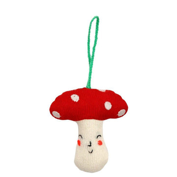Knitted Toadstool Ornament