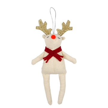 Red Scarf Reindeer Ornament