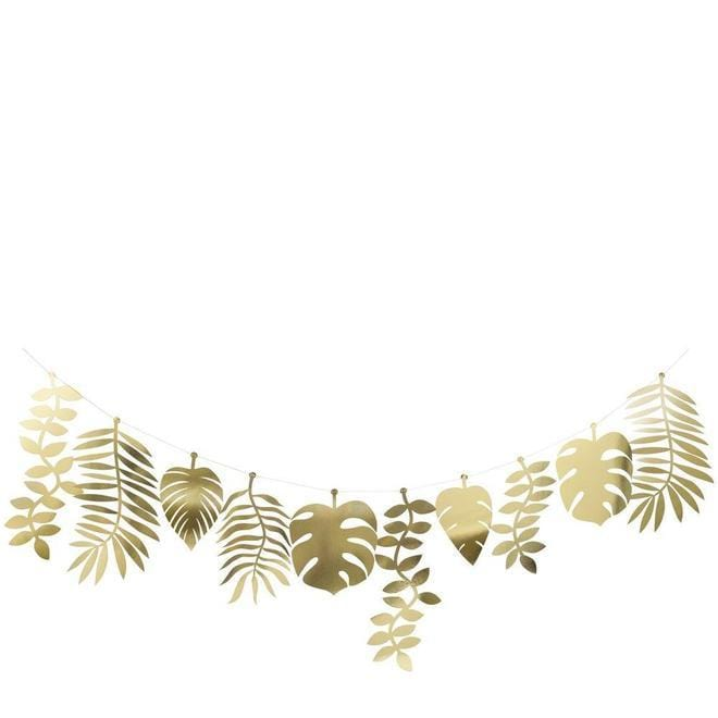 Gold Foil Jungle Leaf Garland