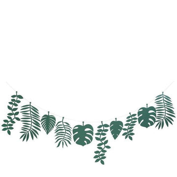 Green Foliage Jungle Leaf Garland