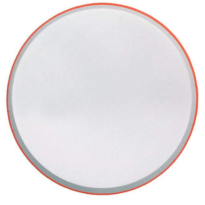 Assorted Neon Pastel Dinner Plates - Large