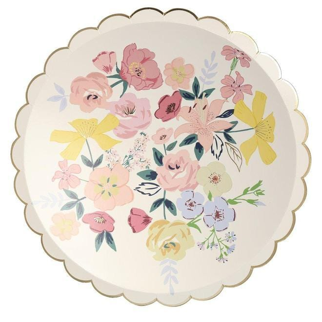 Garden Party Scalloped Plates - Large