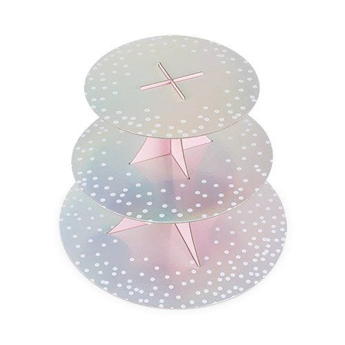 Iridescent Silver Treat Stand