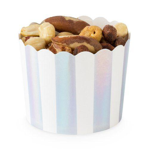 Iridescent Silver Foil Treat Cups