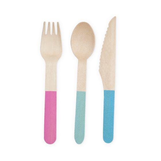 Pool Pastels Bamboo Cutlery