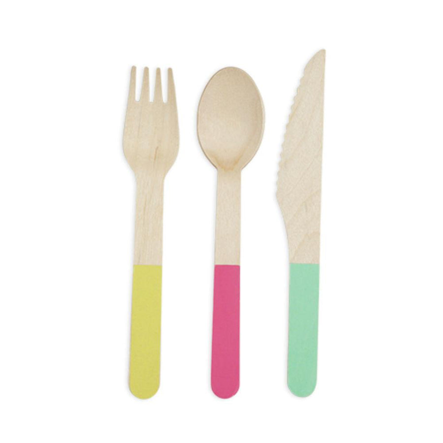 Pastel Bamboo Cutlery