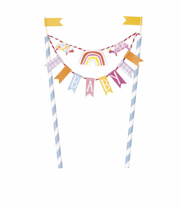 Baby Pennant Garland Cake Topper