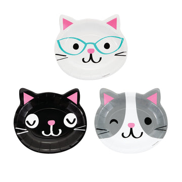 Die Cut Kitty Cat Plates