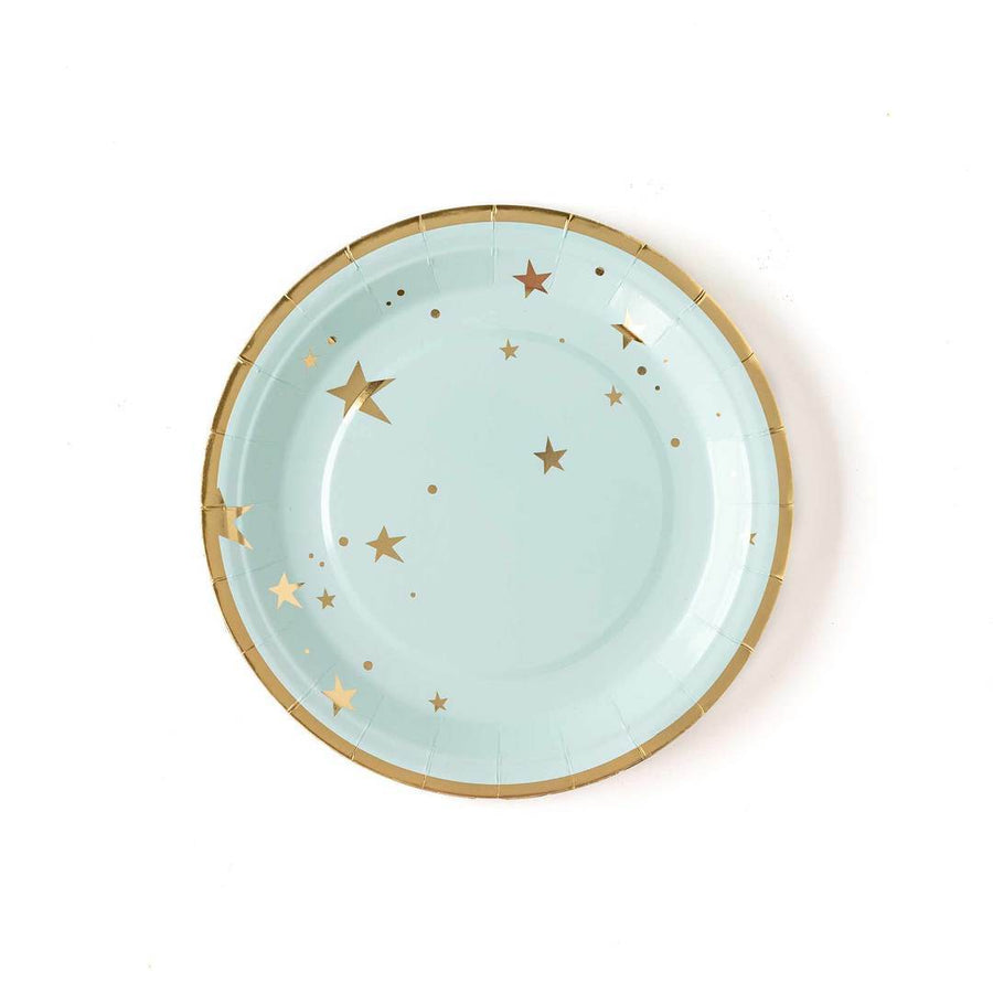 Baby Blue Stars Plate