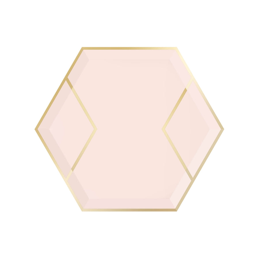 Blush and Gold Dessert Plates