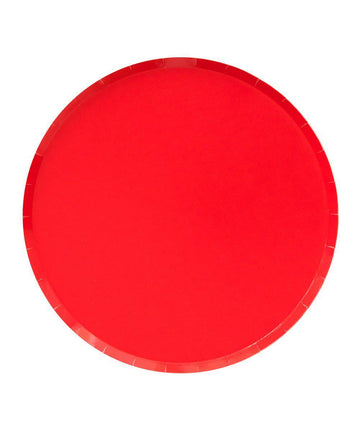 Cherry Red Circle Plate