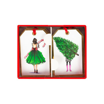Fashion Girl Christmas Gift Tags Graphique De France