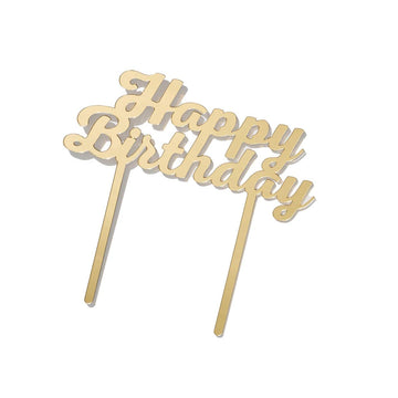 Happy Birthday Acrylic Cake Topper