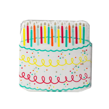 Die Cut Rainbow Birthday Cake Napkins