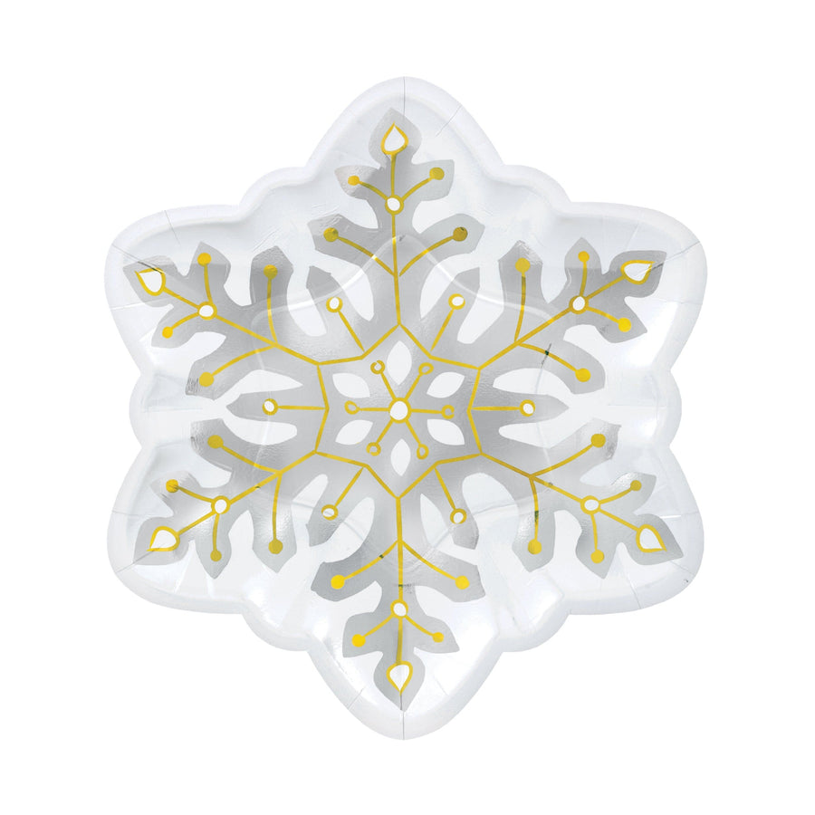 Snowflake Shaped Party Plates