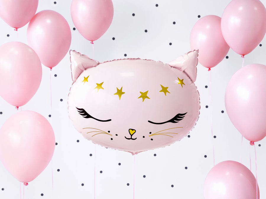 Pink Cat Foil Balloon