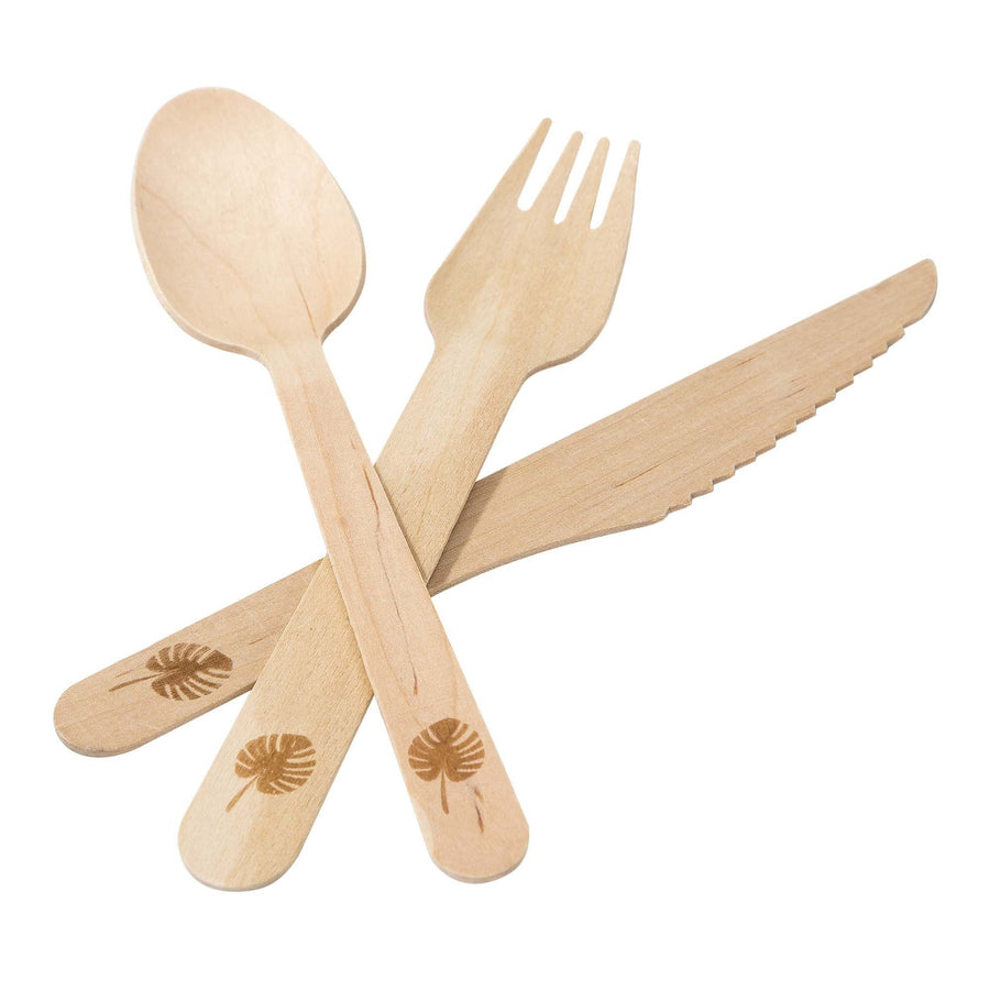 Palm Leaf Wood Cutlery