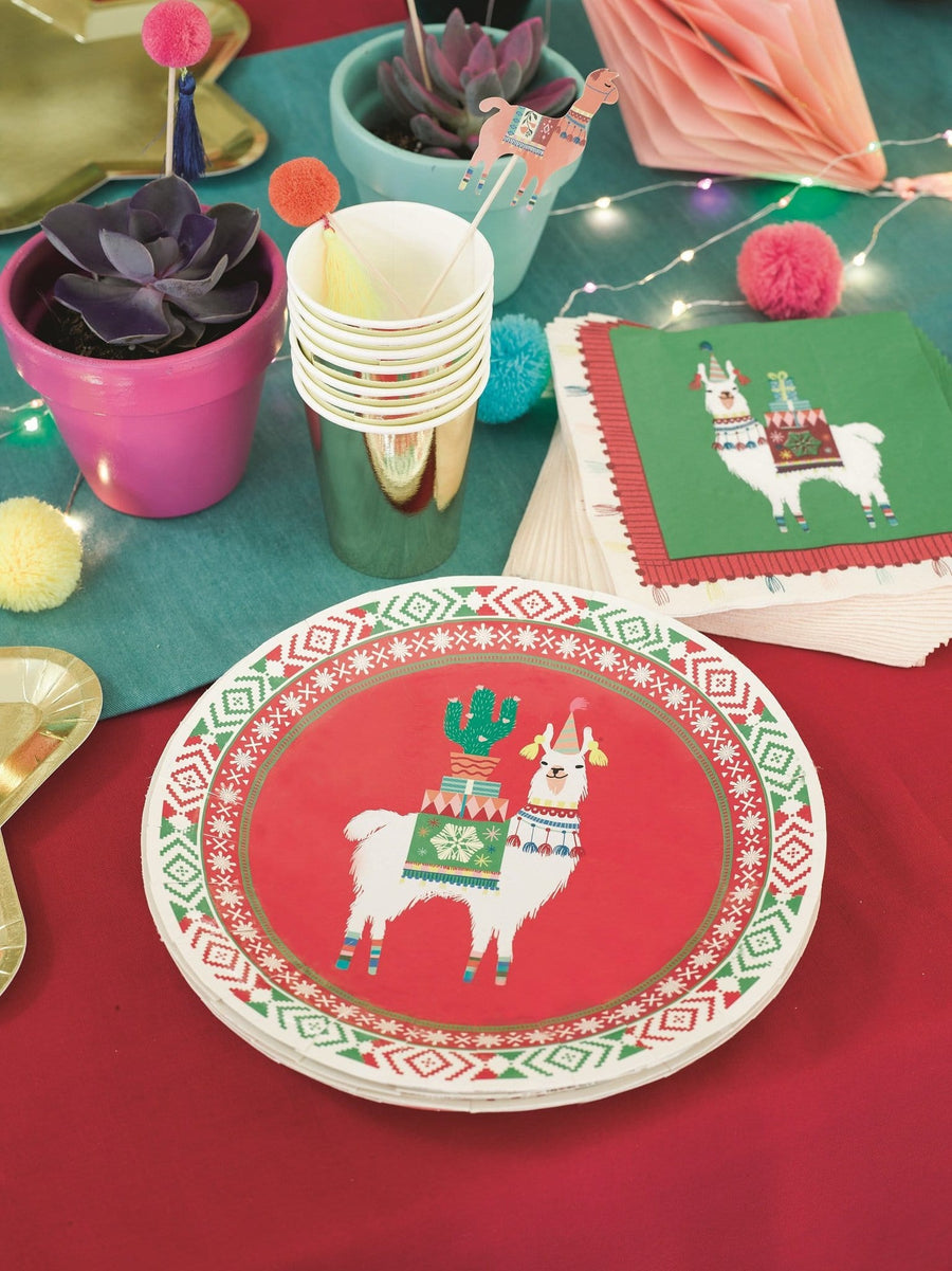Talking Tables Fiestive Llama Plates