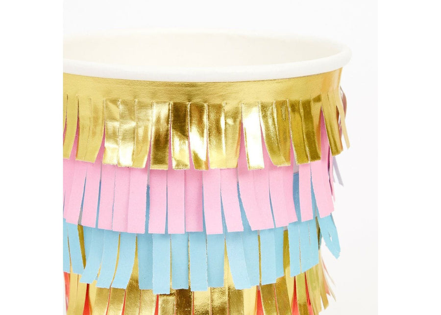 Rainbow Fringe Cups