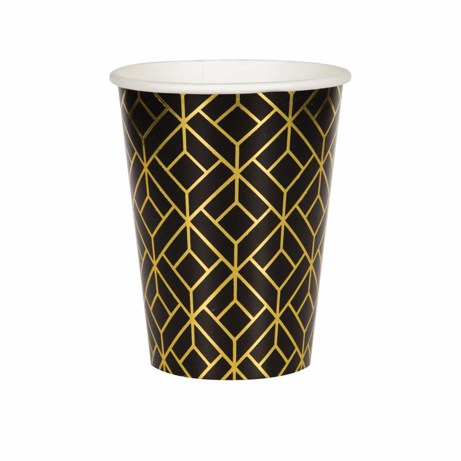 Black and Gold Deco Cups